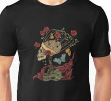 Skull in a cage with roses t-shirt Unisex T-Shirt
