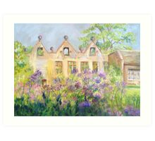 Columbine Meadow Rue at East Riddlesden Hall Art Print