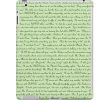 Alice in Wonderland Text iPad Case/Skin