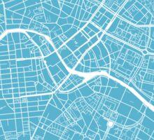 Berlin Map - Baby Blue Sticker