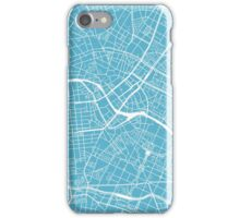 Berlin Map - Baby Blue iPhone Case/Skin