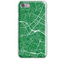 Berlin Map - Green iPhone Case/Skin