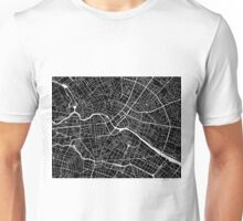 Berlin Map - Black Unisex T-Shirt