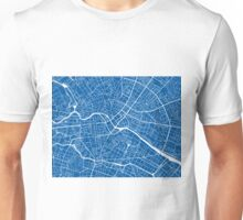 Berlin Map - Deep Blue Unisex T-Shirt