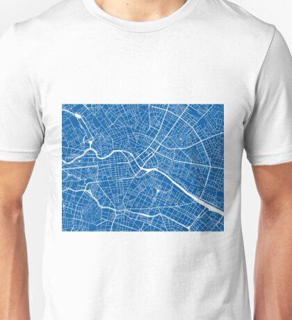 Berlin Map - Deep Blue Unisex T-Shirt