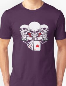 ALL IN SKULLS ROSES 4 OF A KIND ACES WITH POKER CHIPS SHIRT Unisex T-Shirt