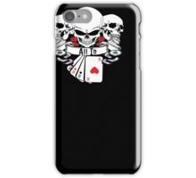 ALL IN SKULLS ROSES 4 OF A KIND ACES WITH POKER CHIPS SHIRT iPhone Case/Skin