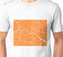 Berlin Map - Orange Unisex T-Shirt