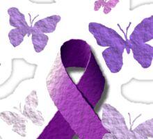 Purple Awareness Ribbon: Cystic Fibrosis  Sticker