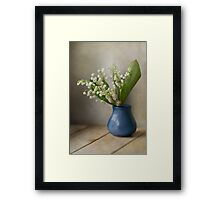 Still life with  fresh flowers Framed Print