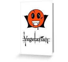 Vegetarian  Vampire Smiley Greeting Card