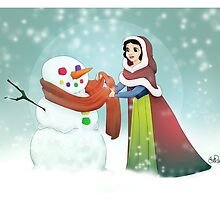 Snow White Christmas Card by cpearson