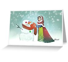 Snow White Christmas Card Greeting Card