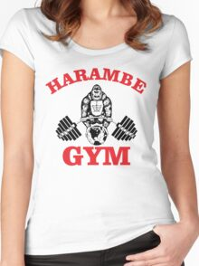 Harambe Gym Women's Fitted Scoop T-Shirt