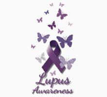 Purple Awareness Ribbon: Lupus One Piece - Short Sleeve