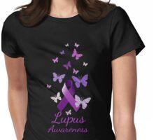 Purple Awareness Ribbon: Lupus Womens Fitted T-Shirt