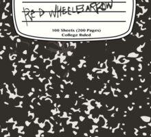 Red Wheelbarrow Composition Book Sticker