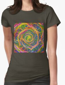 Spider web #DeepDream Womens Fitted T-Shirt