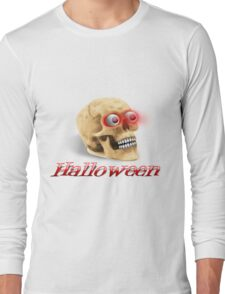 Skull with glowing eyes Long Sleeve T-Shirt