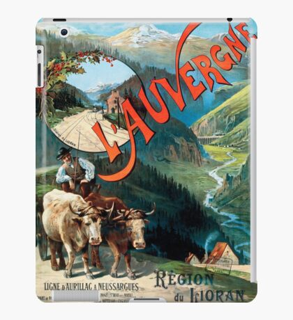 L'Auvergne, French Travel Poster iPad Case/Skin