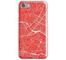 Berlin Map - Red iPhone Case/Skin