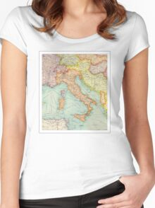Vintage Italy map Women's Fitted Scoop T-Shirt