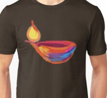 Happy Diwali Colourful Lamp T-Shirt. Unisex T-Shirt