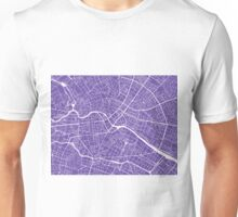 Berlin Map - Purple Unisex T-Shirt