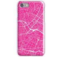 Berlin Map - Hot Pink iPhone Case/Skin