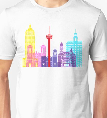 San Antonio skyline pop Unisex T-Shirt