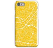 Berlin Map - Yellow iPhone Case/Skin