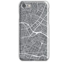 Berlin Map - Gray iPhone Case/Skin