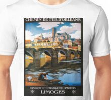 Limoges, French Travel Poster Unisex T-Shirt
