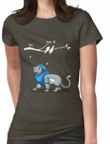 Derpkitty looks for birds Womens Fitted T-Shirt