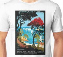 Côte D'Emeraude, French Travel Poster Unisex T-Shirt