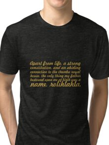 """A part from life... """"Nelson Mandela"""" Inspirational Quote Tri-blend T-Shirt"""