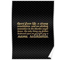 """A part from life... """"Nelson Mandela"""" Inspirational Quote Poster"""