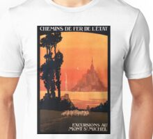 Mont St Michel, French Travel Poster Unisex T-Shirt