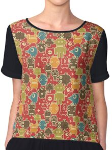 Robots on red Chiffon Top