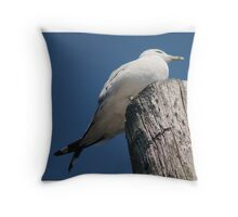 With Crossed Tail Feathers Throw Pillow