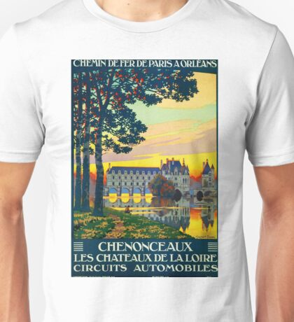 Chenonceaux, French Travel Poster Unisex T-Shirt