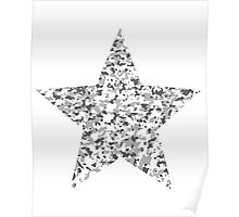 Camouflage star Poster