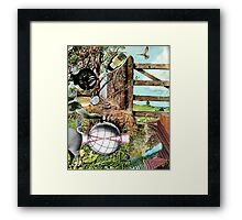 The Weight Lifter. Framed Print
