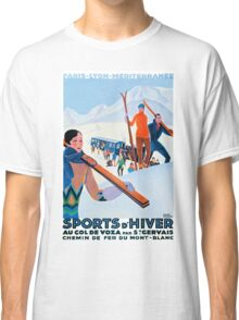 Sports D'Hiver, French Travel Poster Classic T-Shirt