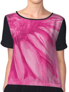 Colorful watercolor of gentle flower with large petals Chiffon Top