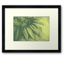 Colorful watercolor of gentle flower with large petals Framed Print