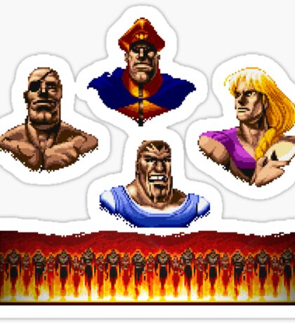 Street Fighter 2 End Scene Sticker
