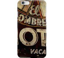 Vintage El Sombrero Motel Sign, Salinas, CA. iPhone Case/Skin