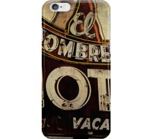 Vintage El Sombrero Motel Sign, Salinas, CA. iPhone Case/Skin