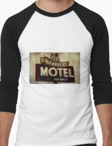 Vintage El Sombrero Motel Sign, Salinas, CA. Men's Baseball ¾ T-Shirt
